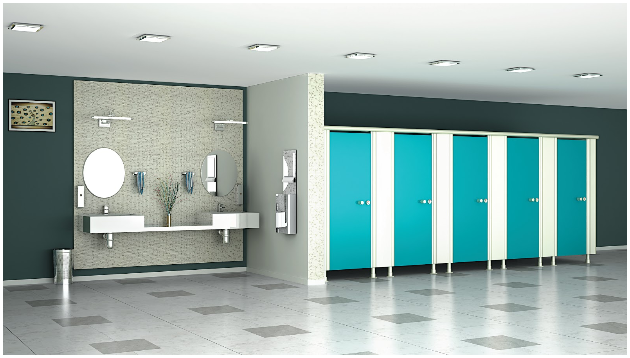 Restroom Cubicles and Toilet Partitions With Greenlam Sturdo
