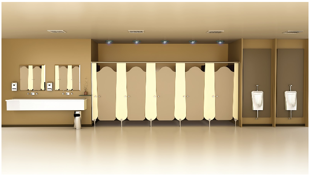 Bathroom Cubicles and Toilet Partitions With Greenlam Sturdo