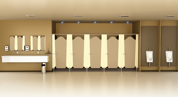 toilet partitions, bathroom urinal dividers with Greenlam Sturdo