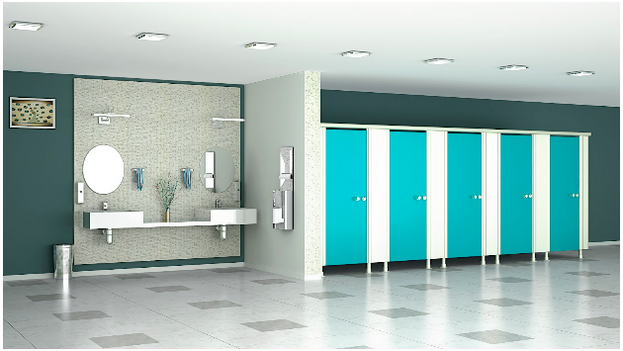 Commercial Bathroom Partitions Design from Greenlam Sturdo