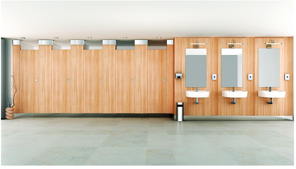 Bathroom cubicles for Public Restroom in India from Greenlam Sturdo