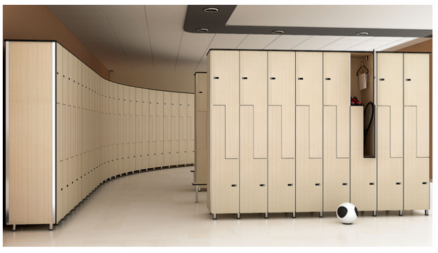 Locker system for a gym, spa and health center