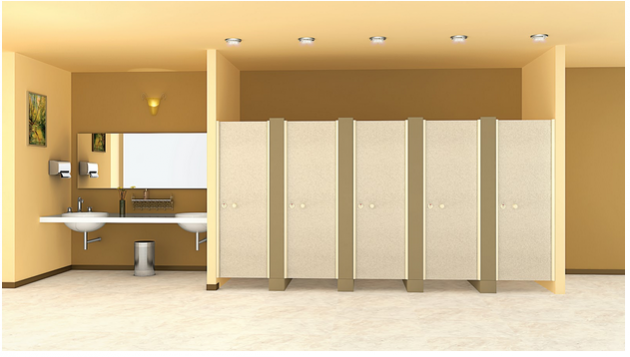 Toilet partition material for health club from Greenlam Sturdo
