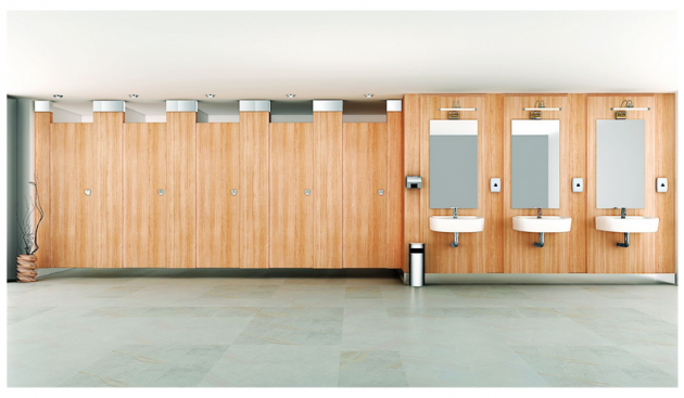 Public toilet partitions in India from Greenlam Sturdo