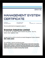 ISO Greenlam Industries – EMS