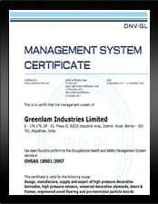 OHSAS Greenlam Industries