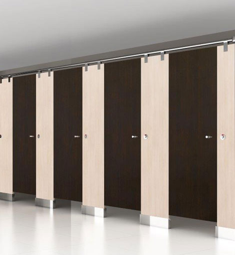 Multi-Layer Compact HPL Toilet Cubicle & Partitions in India