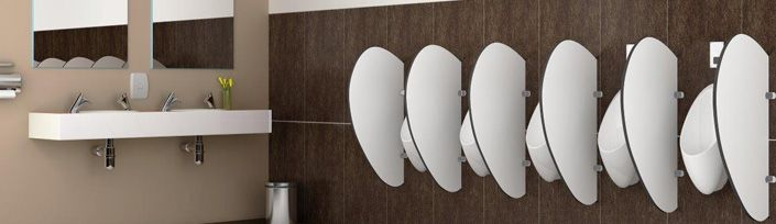 Bathroom Urinal Partitions and Divider